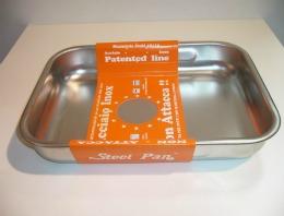 Teglia Alta Inox/Antiad. cm.30-Steel Pan